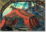 N. K. Roerich: Tristan 1912 - Tristans Schiff. Die Skizze der Dekoration zur Oper von R. Wagner Tristan und Isolde